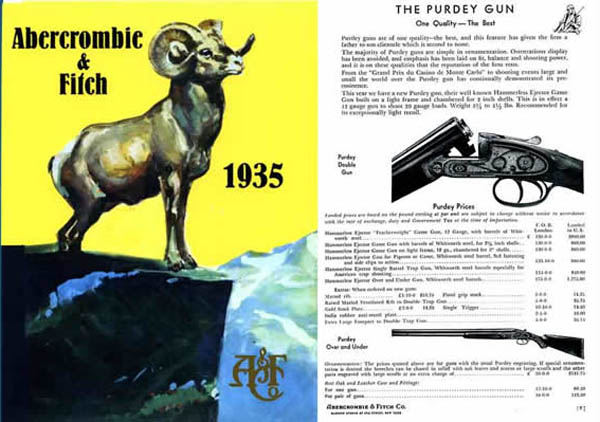 Abercrombie & Fitch Firearms & Sports 1935 Catalog
