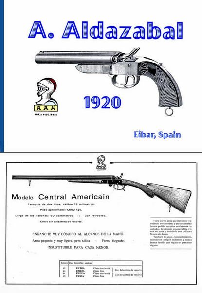 Aldazabel, A (Spain) 1920 Pistols Catalog