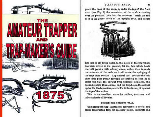 Amateur Trapper, Trap Making & Taxidermy Guide - 1875