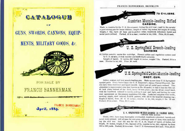 Bannerman 1889 Guns & Surplus Goods Catalog