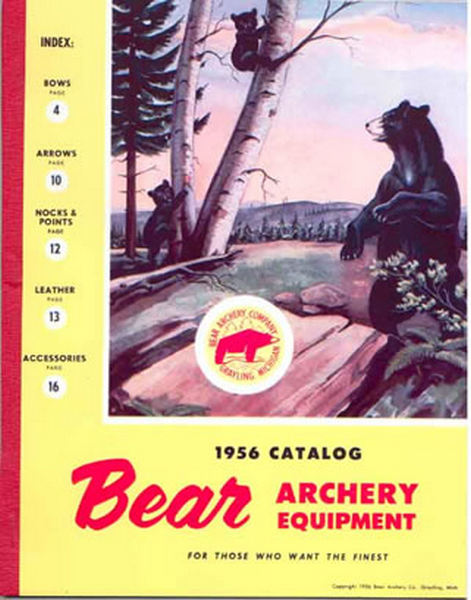 Bear 1956 Archery Catalog