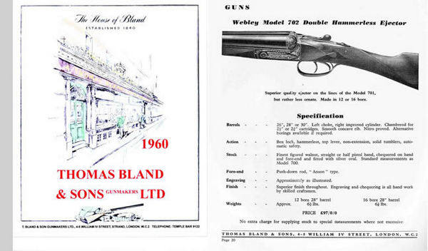 Thomas Bland Ltd. (London) 1960 Catalog
