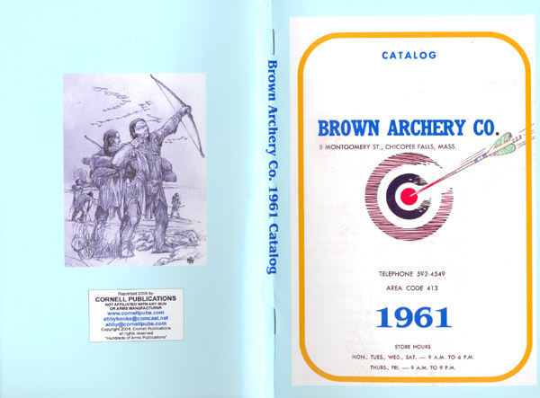 Brown 1961 Archery Catalog