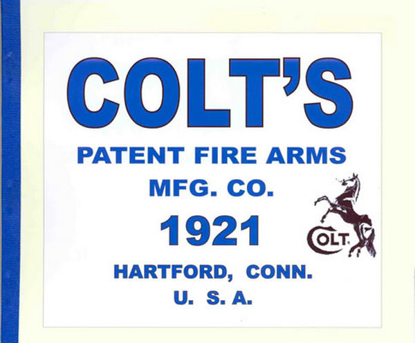 Colt 1921 Firearms Factory Catalog
