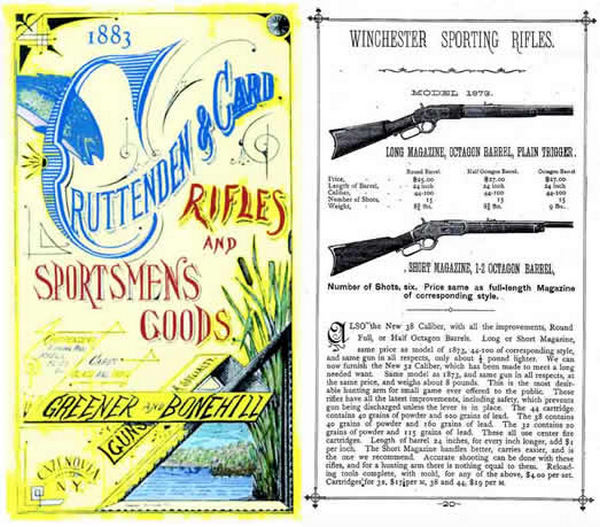 Cruttenden & Card - Guns & Sporting Goods 1883 Catalog (NY)