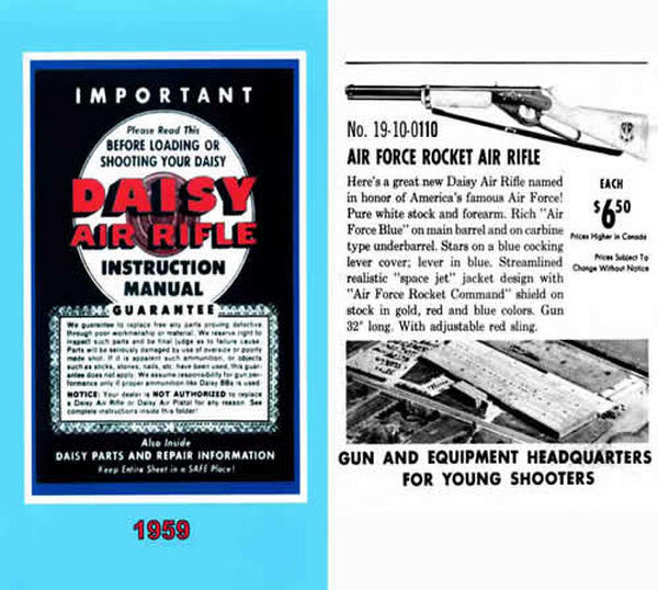 Daisy 1959 Rifles Manual & Parts Diagrams