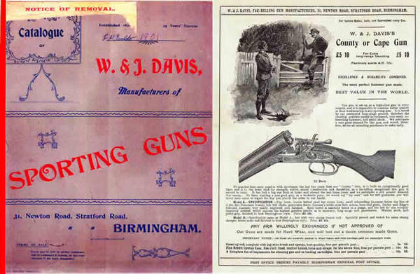 W. & J. Davis 1901 Sporting Guns and Accessories Catalog