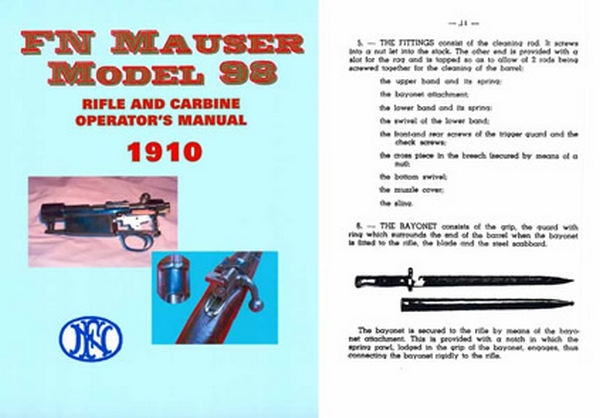 Mauser 1898 FN - 1910 Catalog Rifle and Carbine Operators Manual