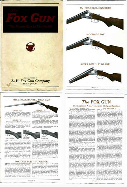 AH Fox c1923 Gun Catalog
