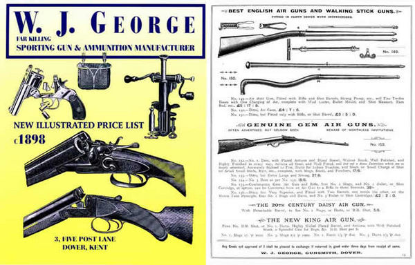 WJ George Sporting Guns and Ammunition c1898 Catalog (UK)
