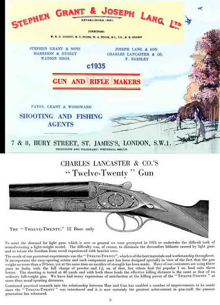Grant & Lang Ltd. c1935 Gun Catalog (UK)