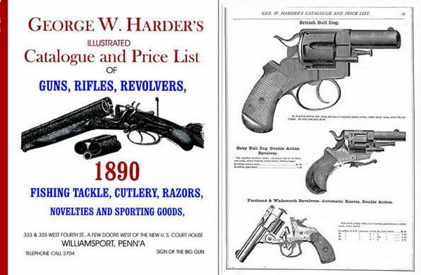George W. Harder 1890 Illustrated Gun Catalogue & Price List, Williamsport, PA