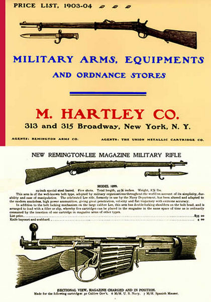 Hartley, M. Company 1903-04 Military Surplus Gun Catalog