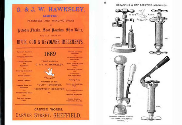 G & JW Hawksley Ltd. 1889 Ammunition Reloading Supplies (UK)