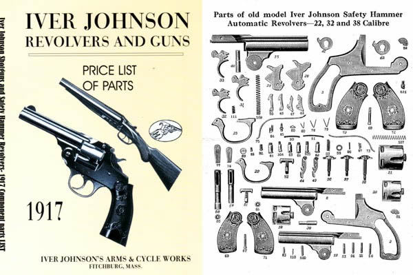 Iver Johnson 1917 Revolvers and Guns Parts and Price List Catalog