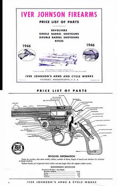 Iver Johnson 1946 Parts and Price Catalog