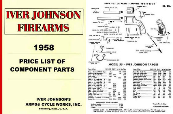 Iver Johnson 1958 Component Parts Catalog