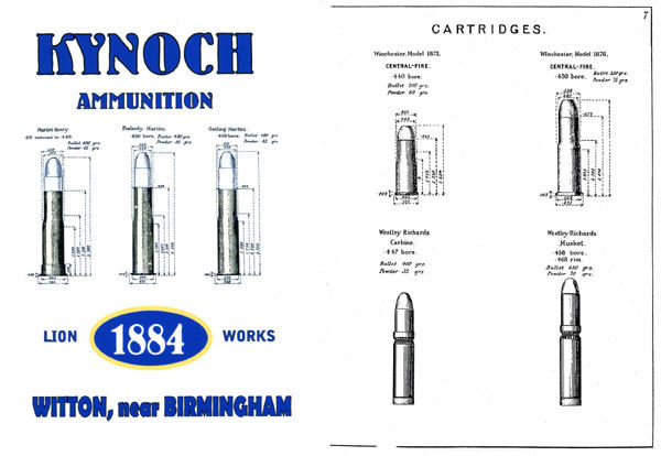 Kynoch 1884 Ammunition Lion-Works Catalog