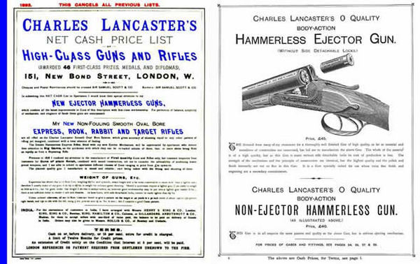 Charles Lancaster High-Class Guns & Rifles 1893 Catalog