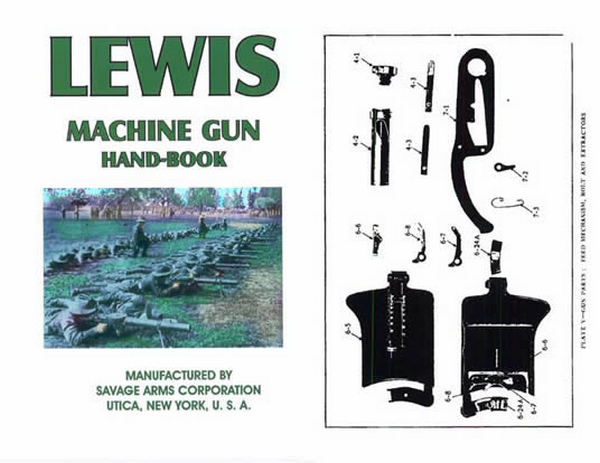 Lewis c1918 Machine Gun Handbook - Savage Firearms Company