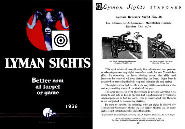 Lyman 1936 Sights Catalog