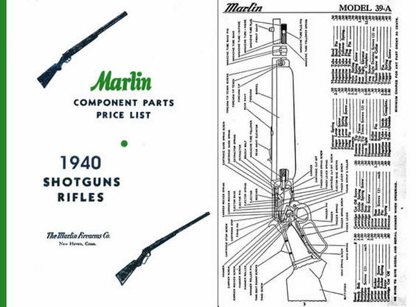 Marlin 1940 Rifles and Shotguns - Component Parts Catalog