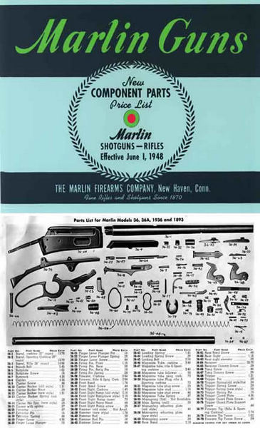 Marlin 1948 Rifles and Shotguns - Component Parts Catalog