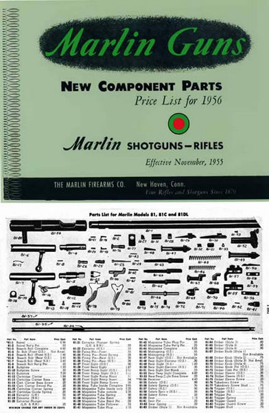 Marlin 1956 Rifles and Shotguns - Component Parts Catalog