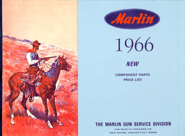 Marlin 1966 Arms Component Parts Gun Catalog