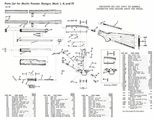 Cornell publications marlin 1966 arms component parts gun catalog contents ccuart Gallery
