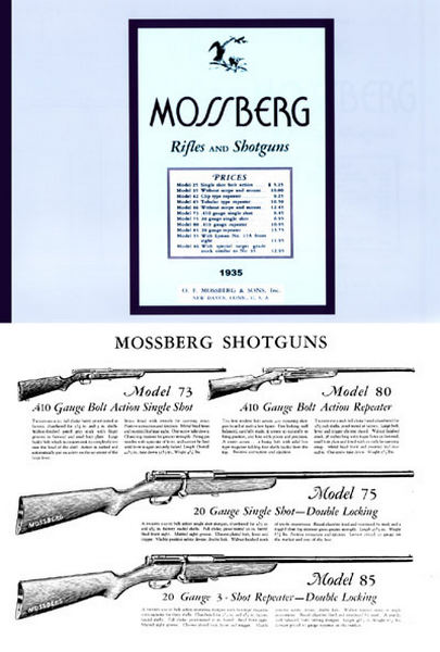 Mossberg 1935 Rifles and Shotguns Catalog