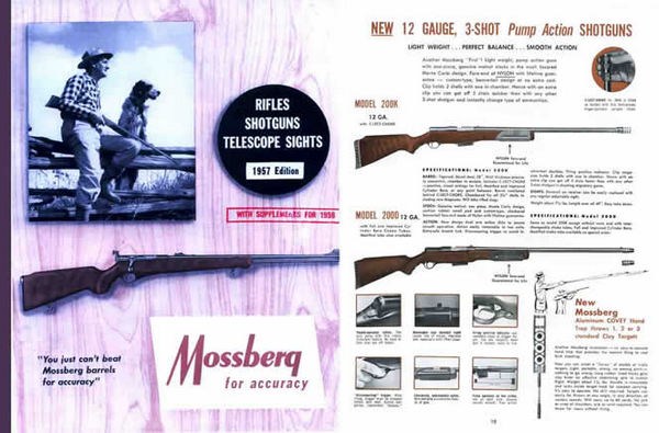 Mossberg 1957 Rifles and Shotguns Catalog