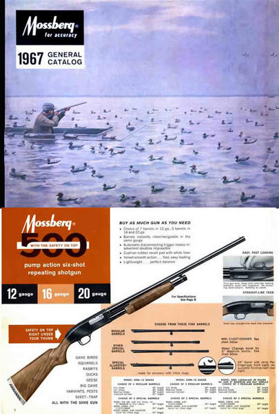 Mossberg 1967 Firearms Rifles and Shotguns Catalog
