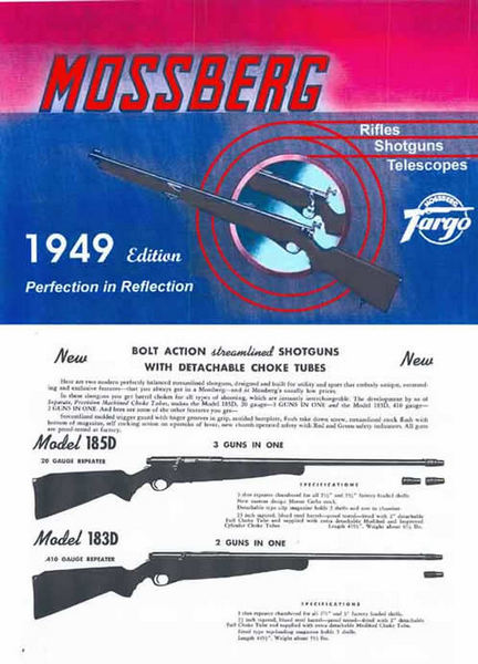 Mossberg 1949 Rifles Shotguns Catalog