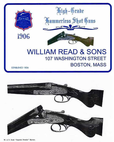 Read, William and Sons 1906 Gun Catalog (Boston, MA)