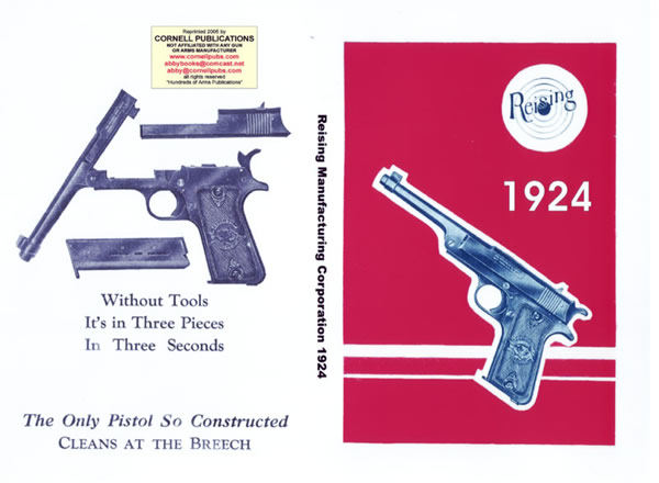 Reising Automatic Sporting Goods & Pistol 1924 Catalog
