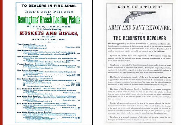 Remington 1866 Gun Catalog