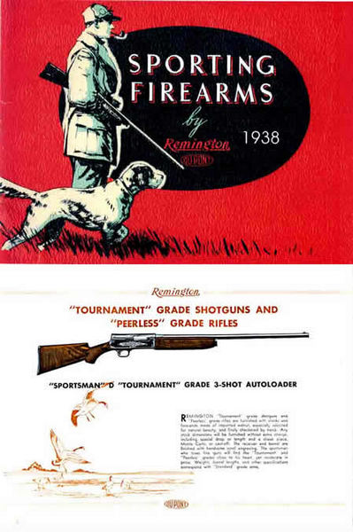 Remington 1938 Firearms Gun Catalog