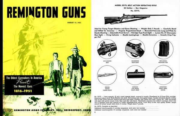 Remington 1951 Firearms Gun Catalog