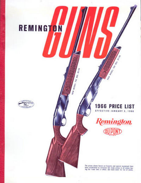 Remington 1966 Firearms Price List Catalog