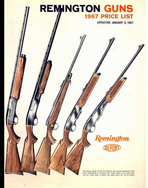 Remington 1967 Rifles and Shotguns Catalog