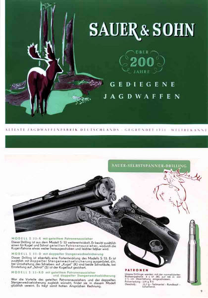 Sauer, JP & Sohn Gun Makers 1951 (German)