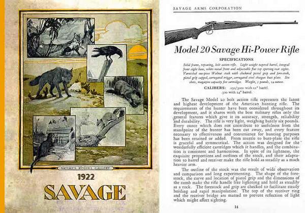 Savage c1922-4 Firearms and Ammunition #63 Catalog