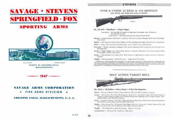 Savage 1947, Stevens, Fox Catalog of Firearms