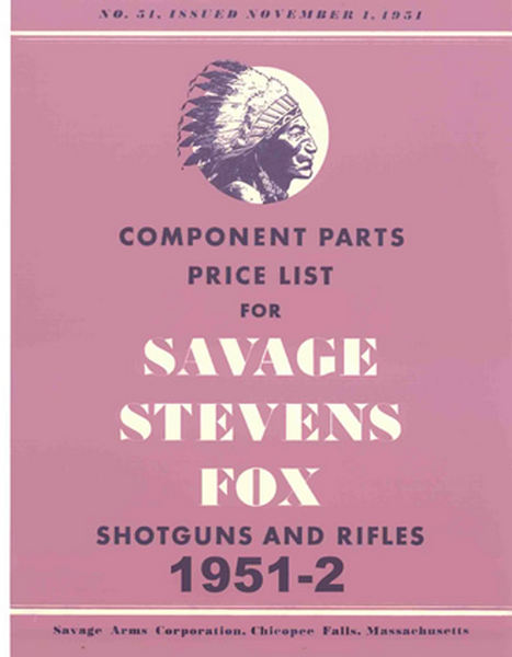 Savage 1951-2 Stevens Fox Component Parts