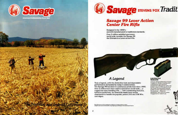 Savage 1986 Stevens Fox Catalog