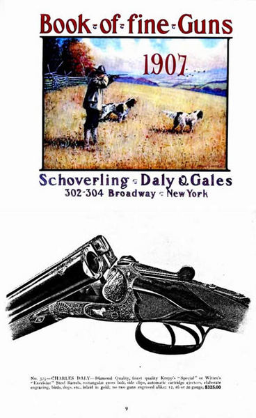 Schoverling, Daly & Gales 1907 Shot Guns & etc. Catalog