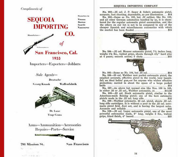 Sequoia Importing 1933