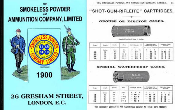 Smokeless Powder & Ammunition Company Ltd. 1900 Catalog