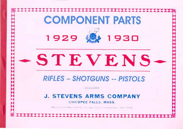 Stevens 1930 Rifles, Shotguns, Pistols Component Parts Catalog